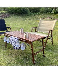 CAMPING COOK FOLDING TABLE IRON GRILL FOR PICNIC