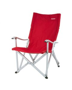 RED ALUMINUM FOLDABLE CAMP CHAIR BIG SIZE HEAVY WEIGHT CAPACITY