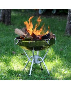 ONWAYSPORTS ALUMINUM BARBEQUE CHARCOAL BBQ GRILL FOR BONFIRE CAMPING PICNIC
